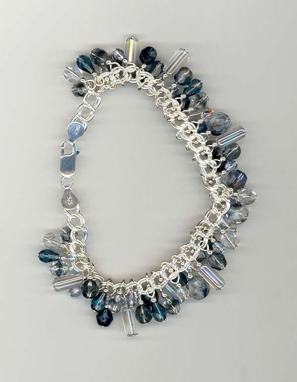 Blue Dangles Bracelet
