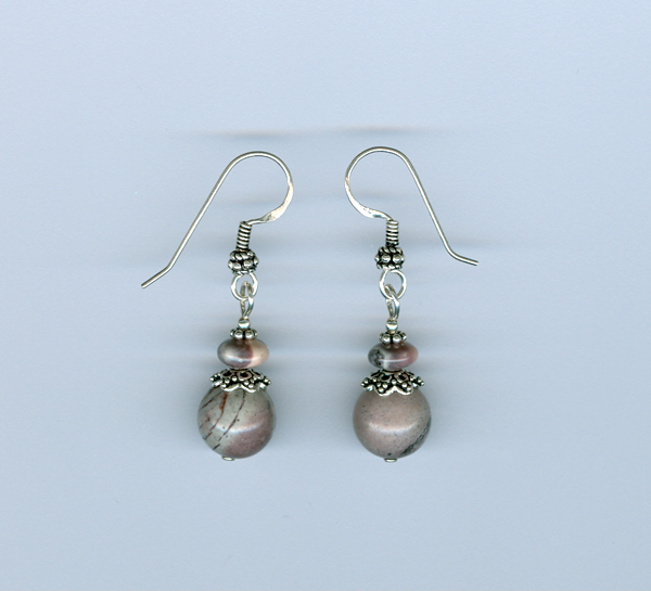 Porcelain Jasper Earrings
