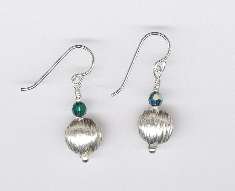 Thai Silver and Crystal Earrings