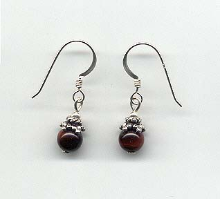 Red Tiger Eye Earrings