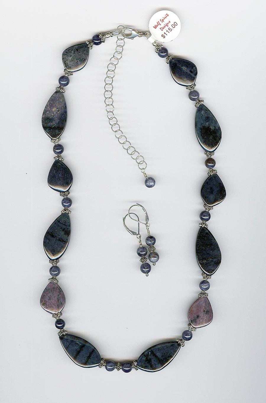 African Dumortierite Necklace
